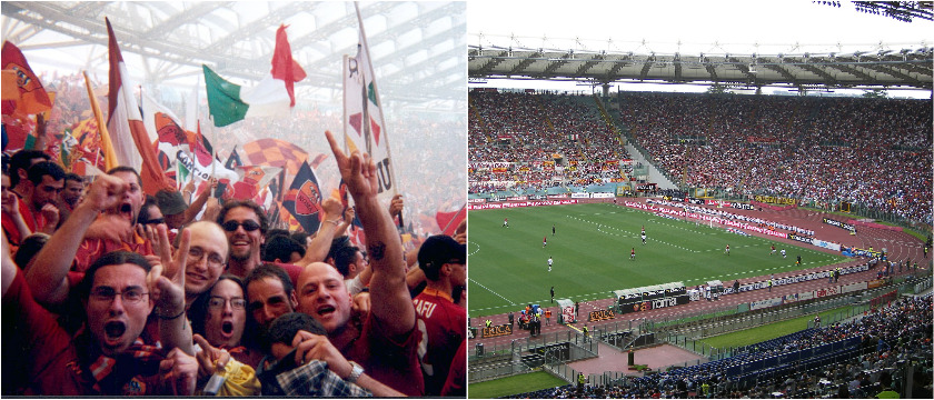 roma fans collage picture